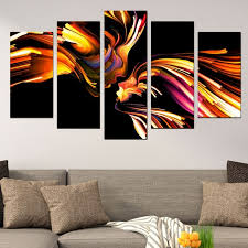 abstract love canvas art for bedroom black yellow