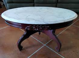 interesting oval marble coffee table wood tables round square end with top wire floor lamp attached