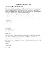 images about decline letters sample letters job offer rejection letter
