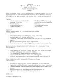 Extended Resume Template Resume Template For Construction Worker Allthingsproperty Info