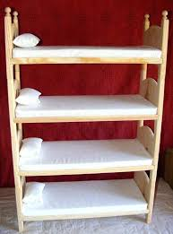 18 inch doll bunk beds items similar to doll bunk bed wooden quad set with foam