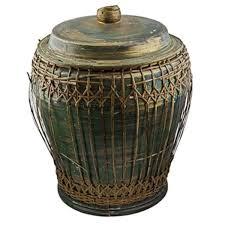 snake charmer basket w lid gre