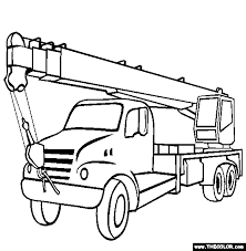 Boom Truck trucks online coloring pages page 1 on jacked up truck coloring pages