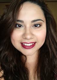 fall makeup look bold lips