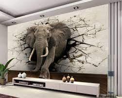 Beibehang 3d wallpaper elephant mural ...