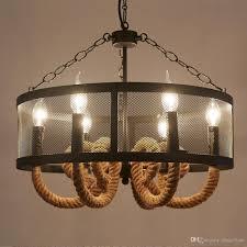 Großhandel Vintage Hanfseil Kronleuchter Antique Classic Pendelleuchte Led Licht Decke Retro Edison Birne Pedant Lampe Für Home Fixture Von Zhao3yue