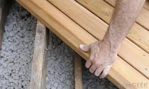 patio decks are often made of wood which may complement the look of a home