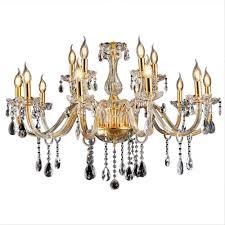 Sailun Kristall Kronleuchter Klassisch Hängeleuchte Golden Pendelleuchte Deckenleuchte Antik Messing Kristall Lüster 105 Flammig E14 105 Lichter