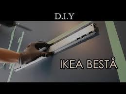 how to install ikea besta wall unit