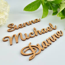 product images wooden laser cut name