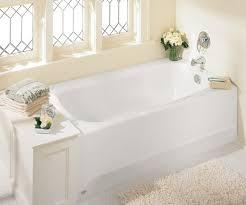 modern bathroom design with flower vase and american standard bathtubs also hexagonal floor tiles also wall