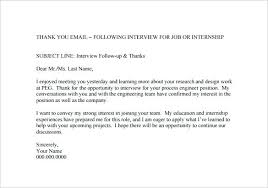 thank you letter after application follow up email after interview sample subject line thank you letter