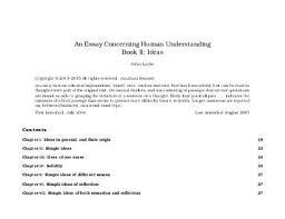 essay concerning human understanding by john locke ship an essay concerning human understanding book ii ideas