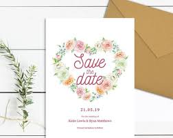 Save The Date Cards Templates Heart Save The Date Template Download Printable Peony Save The