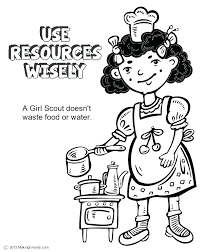 Daisy Girl Scouts Coloring Pages Brownie Girl Scout Coloring Pages