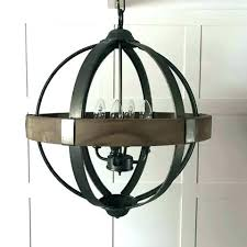 large orb chandelier ge orb chandelier round wood band metal 4 arm extra and small chandeliers