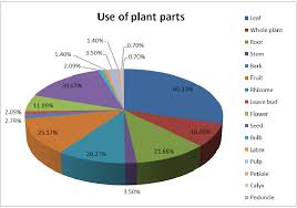 Number Of Plant Parts Used For Medicinal Purpose In Pie