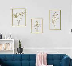 wall art set of 3 botanical art living
