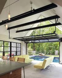 glass garage doors for houses garage patio designs living room contemporary with glass garage door steel