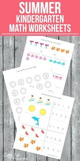 Other Size S Summer Kindergarten Math Worksheets Numbers 1 Free ...