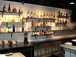 bar mirror with shelves staggering glass shelves for bar area wet wall back battery lighted regarding