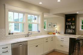 Transitional Kitchen White Transitional Kitchen Designs With White Cabinet And Glass
