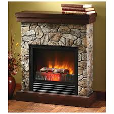 full image for white faux stone electric fireplace best perfect stacked