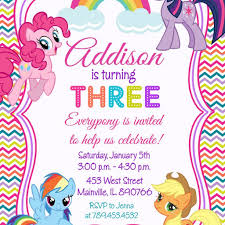 Print Out Birthday Invitations My Little Pony Printable Birthday Invitations Mes Specialist 76