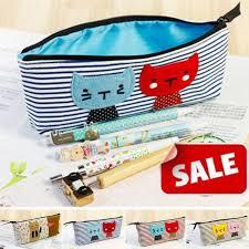 2019 wholetide lady canvas makeup bag s cute stripe cat estic case bags women pouch brush pen cases from derrick86 43 04 dhgate