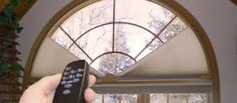 Motorized Arch Shades  Pure Tech Window FashionSemi Circle Window Blinds