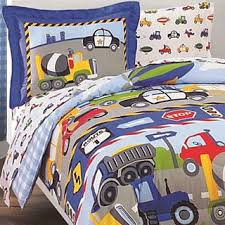 trucks and tractors twin size 5 piece bed in a bag with sheet set bedding sets twin kids