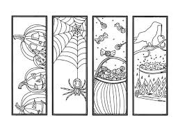 Halloween printables with haunted house bookmarks, halloween characters cartoon book, creepy stickers, scary halloween props. Diy Halloween Bookmarks Set Of 4 Holiday Crafts Color Your Etsy Coloring Bookmarks Coloring Pages Bookmarks Handmade