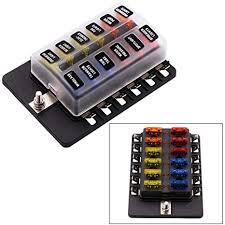 amazon com fuse block,12 way blade fuse box holder with led warning fuse box caravan fuse block,12 way blade fuse box holder with led warning light kit for automotive