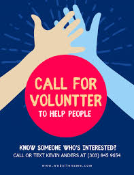 Volunteer Flyers Samples Volunteer Poster Template Sinda Foreversammi Org
