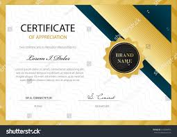 vector diploma certificate template luxury modern stock vector  vector diploma or certificate template luxury modern pattern design decorated gold