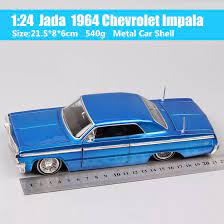 เด็ก1:24 Scale Vintage Vintage 1964 Chevrolet IMPALA Chevy Diecasts & Toy  Vehicles โมเดลรถยนต์โลหะอัตโนมัติของที่ระลึกของขวัญ Jada