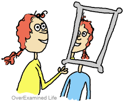 looking in mirror clipart. mirror headed person reflecting empathy looking in clipart