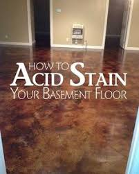 basement floor finishing ideas. Coffee Brown Acid Stain - Staining Basement Floors Is Becoming More And Popular Finishing Floor Ideas T