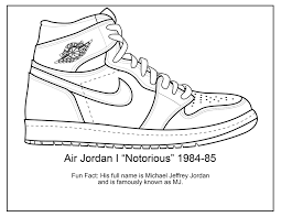 Jordan Sneaker Coloring Pages Page Home For Shoe Bitsliceme