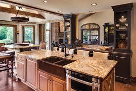 Kitchen Room Rustic Open Kitchen Designs Modern New 2017 Design