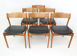 scandinavian table l lovely set of six danish teak dining chairs designed by erik buch for