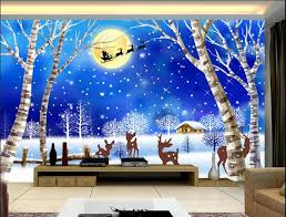 3d wallpaper custom mural non woven wall stickers Christmas snow children  room background wall wallpaper for walls 3 d-in Wallpapers from Home  Improvement ...