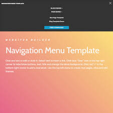 pages menu template free html bootstrap 4 navigation menu template