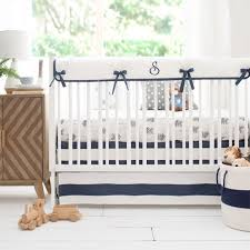 navy and gray arrow nursery bedding aim high crib collection