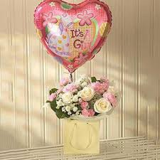 pink lullaby balloon gift set new born gifts to uk