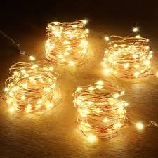 Tiny Battery Operated Lights Abkshine Battery String Lights 4 Pack 50 Led Warm White Battery Powered Mini Christmas Fairy Lights Battery Operated Led Lights For Christmas