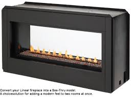 vlvf43 luminary linear vent free gas fireplace installed without trim
