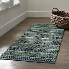 pinstripe jade green cotton rag rug crate and barrel crate and barrel outdoor rugs