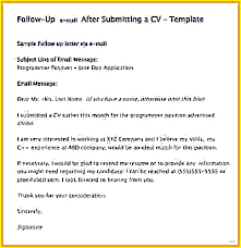 Follow Email After Resume Cover Letter Sending Sample Admirable ...