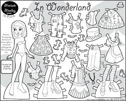 Paper Doll Coloring Page For Kids Free Printable Paper Doll Coloring